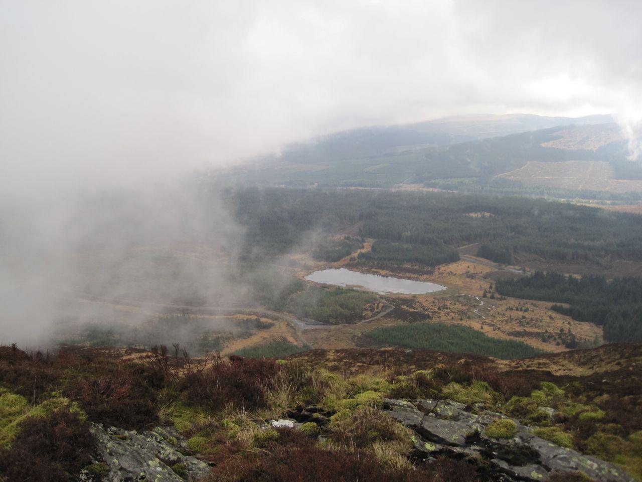 lillie's Loch below Craignell, in a break in the cloud
