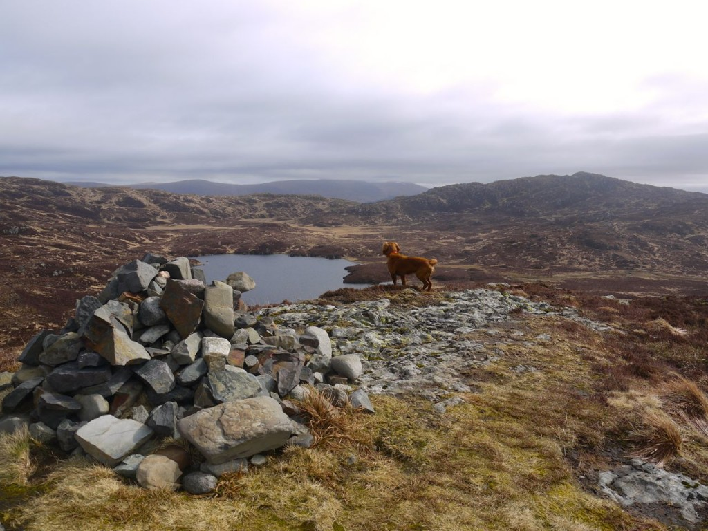 Cornish Loch from one of the cairns on Cornish Hill