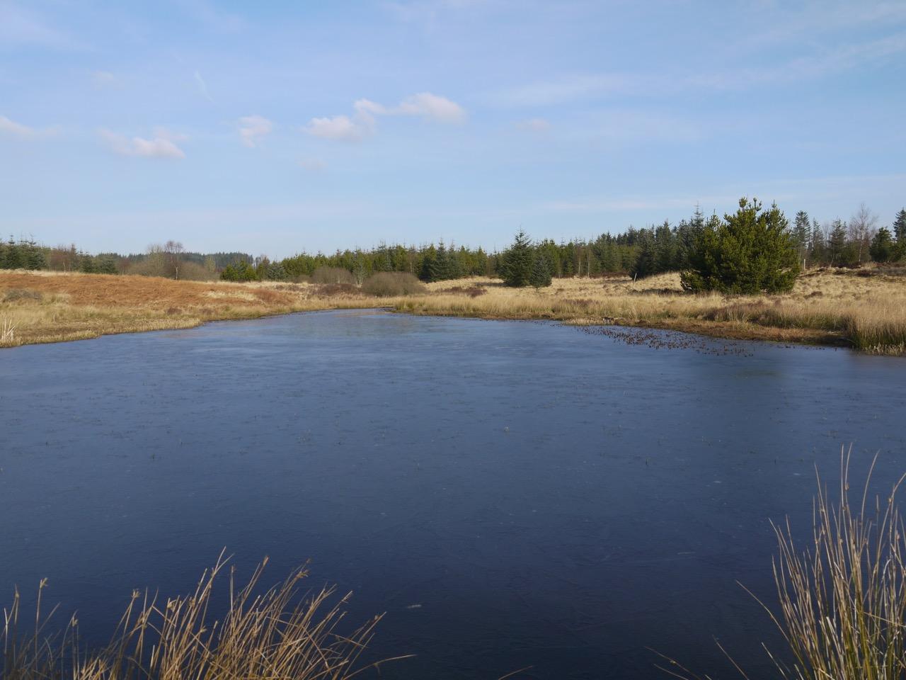Frozen Earshaig Loch