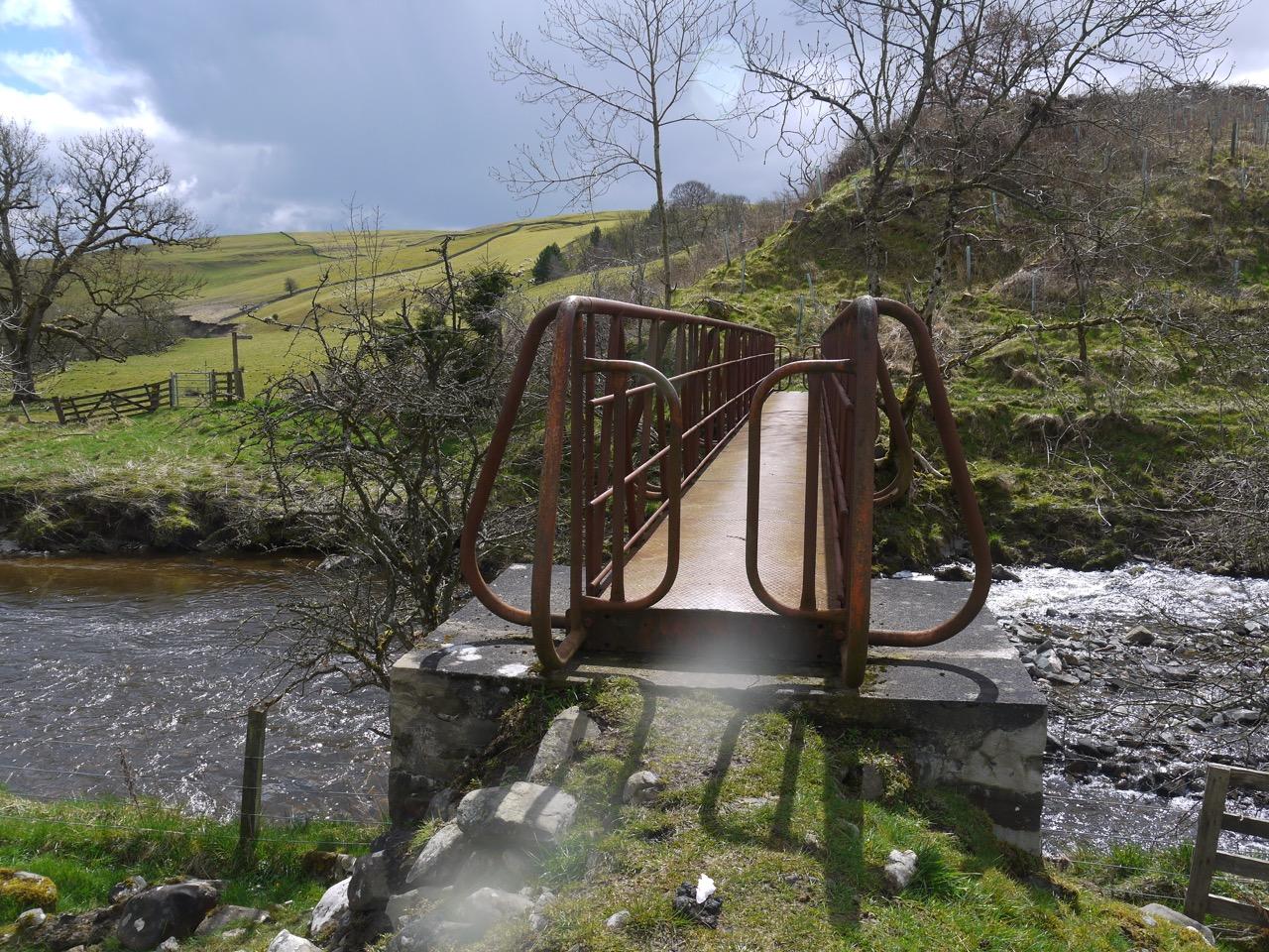 Footbridge over Borthwick Water